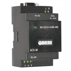 Преобразователь интерфейсов RS-232 - RS-485 с гальванической изоляцией АС3-М-024