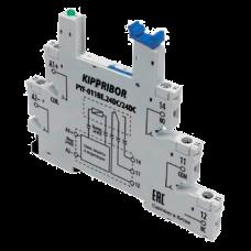 Монтажные колодки KIPPRIBOR PYF-011BE для 1-контактных реле в ультратонком корпусе серии SR PYF-011BE.230AC/60DC