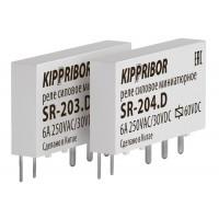 Интерфейсные промежуточные реле KIPPRIBOR в ультратонком корпусе серии SR-204.D