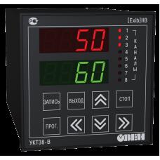 Восьмиканальный измеритель для взрывоопасных зон с сигнализацией УКТ38-В.01